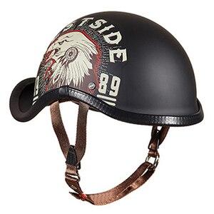 Image 4 - Gxt novo capacete da motocicleta do vintage retro metade motocross capacete aberto rosto casco moto capacete de corrida equitação