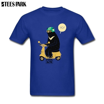 XXXL camisetas Scooter oso Vespa Streetwear camisetas para hombre cuello redondo Camiseta Humor hombre para adultos T diseño de la camiseta
