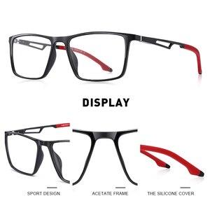 Image 2 - MERRYS 디자인 남자 스포츠 안경 프레임 근시 처방 안경 아세테이트 프레임 실리콘 다리 s2270와 알루미늄 사원