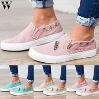 Shoes Women Women Flats Shoes Platform Sneakers Slip On Flats Suede Ladies Loafers Casual Canvas Shoes Zipper Women Zapatos P102