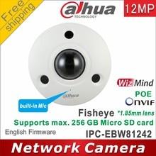 Dahua IPC-EBW81242 12mp ir rede fisheye câmera ip67 ai fisheye câmera ultra hd à prova de vandalismo substituir IPC-EBW81230 câmera ip