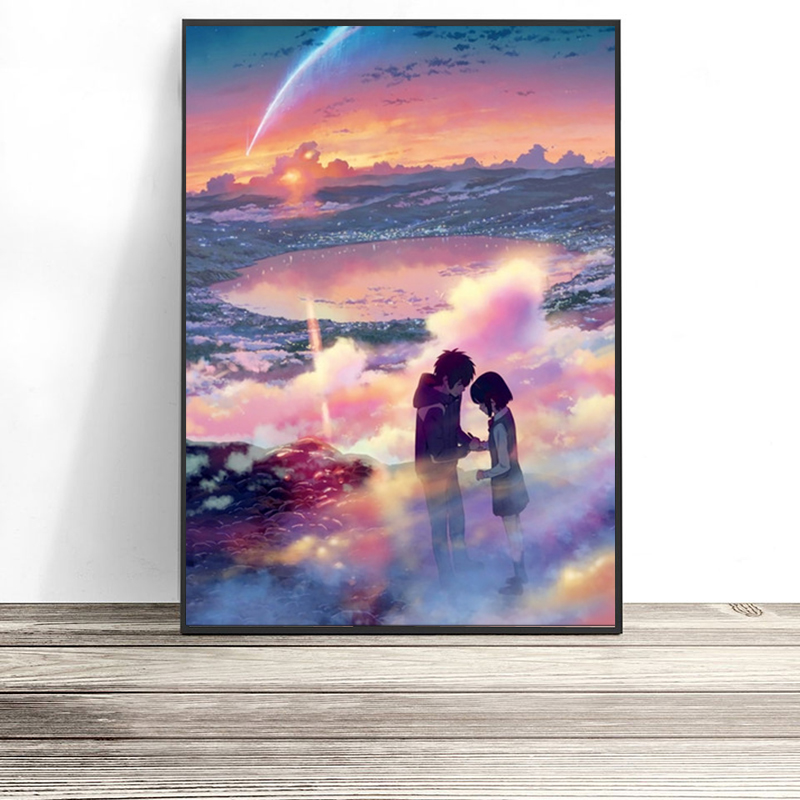 Nordic-Print-Home-Decor-Painting-Anime-Your-Name-Picture-Wall-Art-Modular-Canvas-Watercolor-Poster-Modern (2)