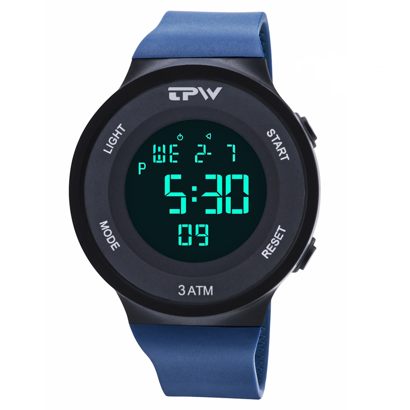 Men Sports Watches Stopwatch Alarm Chrono Digital Watch Electronic Hand Watch For Man Waterproof Silicone Strap Unisex