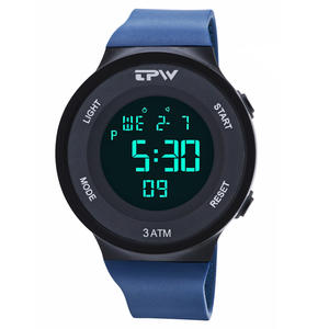 Watches Strap Chrono Alarm Silicone Sports Electronic Waterproof Digital for Man Unisex