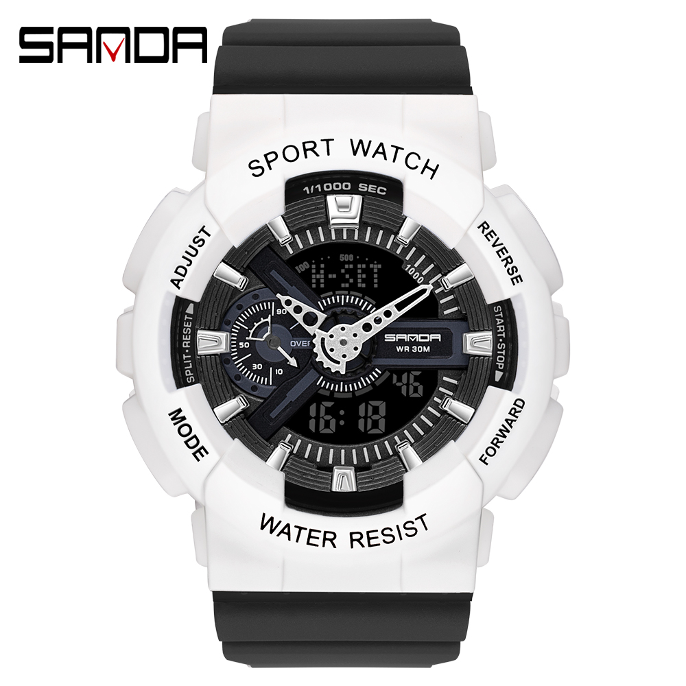 2020 SANDA Military Men's Watch Top Brand Luxury Waterproof Sport Wristwatch Fashion Quartz Clock Couple Watch relogio masculino 18