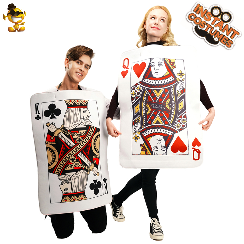 Christmas Adult Couples Queen Of Hearts Costumes Role Play Carnival Party Cosplay Men Women Costume Playing Cards Tunic
