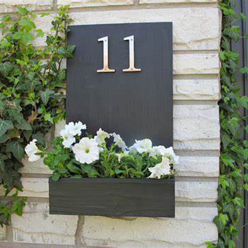 10cm Big Modern House Number Door Home Address Mailbox Numbers For House Number Digital Door Outdoor Sign 4 Inch. #0-9 Silver