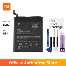 Original Xiaomi BM22 Phone battery For XiaoMi 5 Mi5 M5 Prime 2910mAh original xiaomi bm22 high capacity phone battery for xiaomi 5 mi5 m5 prime 2910mah