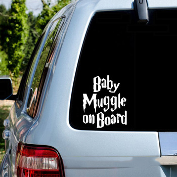 цена на Funny Baby On Board Car Sticker  For Car Rear Windshield Decal Sticker Vinly Decal Window Decoration Assessoires