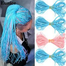Extensiones de cabello trenzado de ganchillo sintético Eunice Zizi trenzas de caja larga extensiones de cabello trenzado de ganchillo rosa púrpura cabello trenzado Zizi