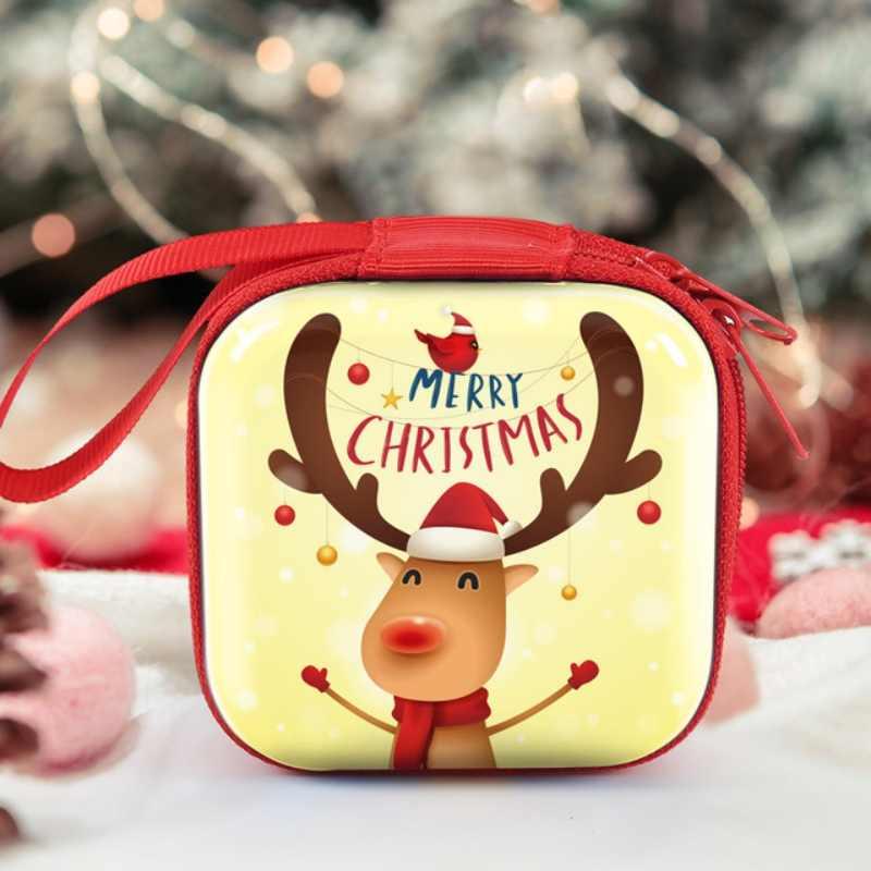 Saco do natal de Natal Dos Desenhos Animados Coin Purse crianças Meninas Carteira Fone de Ouvido Caixa De Armazenamento Sacos Wome Presente de Casamento Embalagem Invólucro