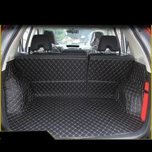 цена на Lsrtw2017 Leather Car Trunk Mat Cargo Liner for Honda Crv 2012 2013 2014 2015 2016 4rd Generation Hodna Cr-v Accessories