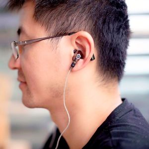 Image 5 - VJJB N1 כפול דינמי אוזניות שני יחידת נהג DIY HIFI בס סאב עם מיקרופון כבל + אודיו כבל