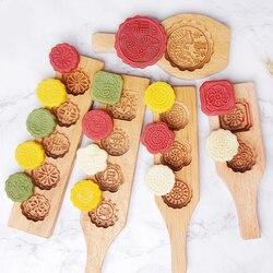 1 sztuka drewniana Mid-autumn Festival Mooncake formy ciasteczka formy 3D kwiat kremówka Mooncake formy do pieczenia narzędzia mydło wyrabiane ręcznie formy