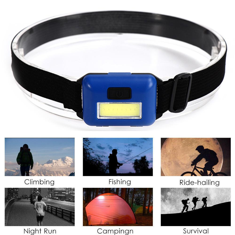 Practical Durable 3 Modes Waterproof COB LED Flashlight Outdoors Headlight Headlamp Flashlight Outdoor Headlight Wholesale CSV
