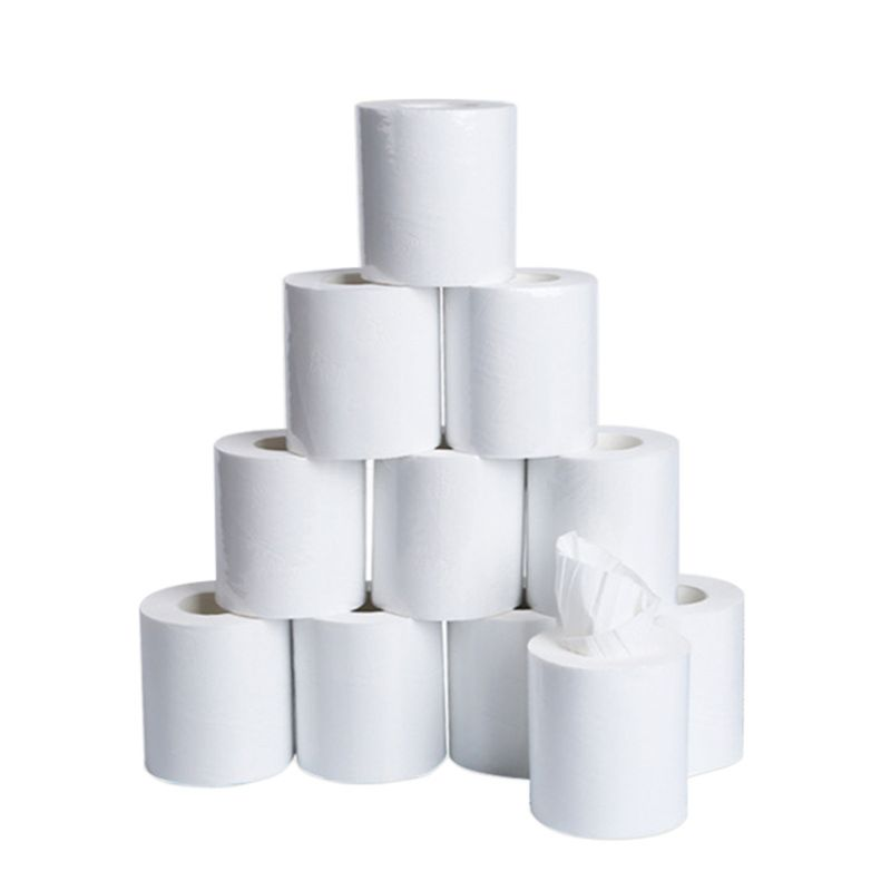 10 Rolls White Napkin Roll Paper ,Home Household Thicken Bath Toilet Paper Soft
