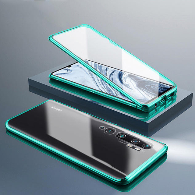 360º Curved Screen Front+Back Double sided Full Body Metal Magnetic Adsorption Flip Protective Case Xiaomi Mi Note 10 CC9 Pro