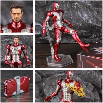 Nowy 2021 Marvel Iron Man MK5 Mark V walizka 7 #8222 film figurka Ironman Mark 5 Tony Stark Legends oryginalny ZD zabawki lalki tanie i dobre opinie Disney Model 12 + y CN (pochodzenie) Unisex 7inchs Wyroby gotowe Zachodnia animacja Produkty na stanie Film i telewizja