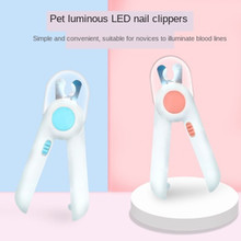 Pet Cat Dog Nail Clipper Cutter Trimmer With Led Light Sickle Stainless Steel Grooming Scissors Clippers  Pet Claws Dog Supplies