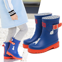 DRIPDROP Natural Material Rubber Rain Boots Waterproof Booties Non-slip Shoes Ch