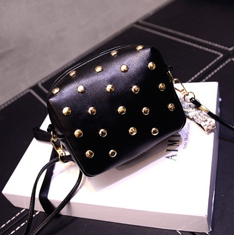 Rivet Mini Bags For Women 2019 Leather Messenger Bags Shoulder Bag Women Crossbody Female Handbags Ladies Cute Bolsas Femininas