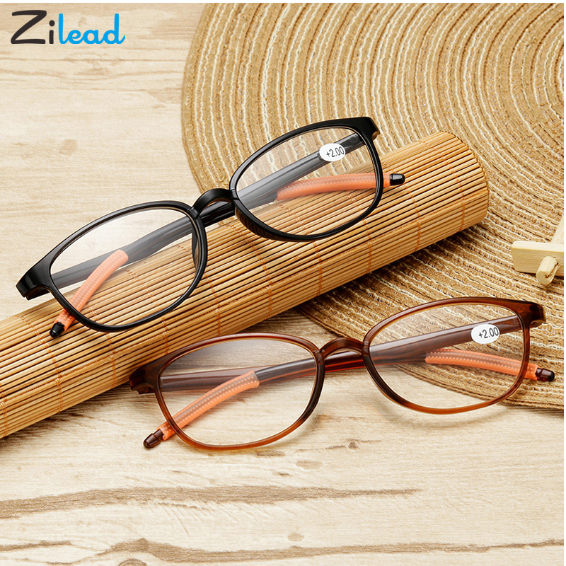 Zilead Comfy Round Toughness Reading Glasses For Women&Men Ultralight Resin Clear HD Lens Presbyopic Glasses Hyperopia Eyewear