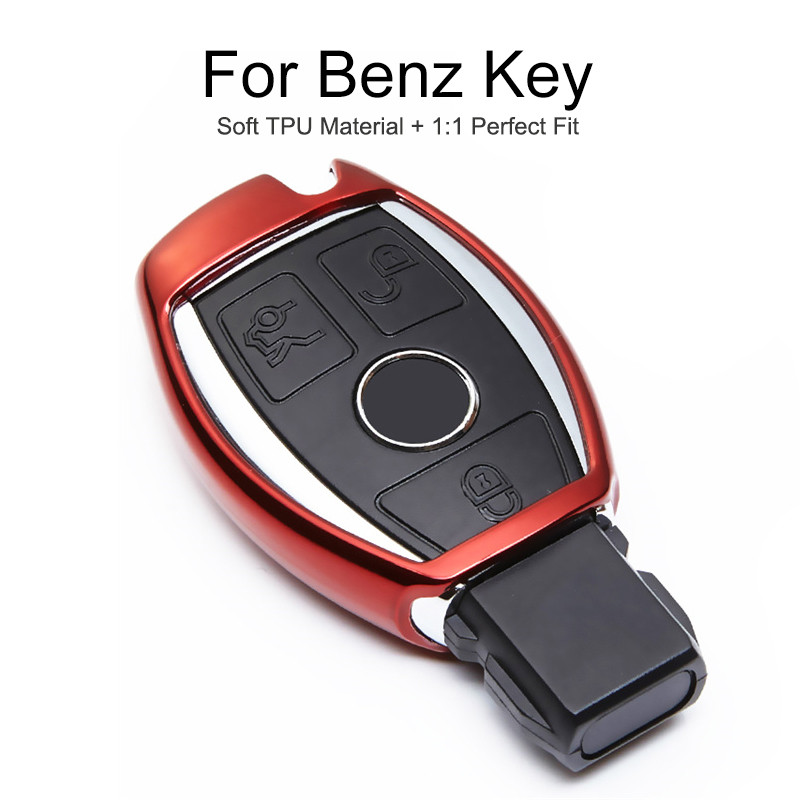 Soft TPU Car Smart Key Cover Case For Mercedes Benz W212 W211 W203 W204 GLA W177 W168 W202 W124 CLA AMG CLK Key Ring Accessories