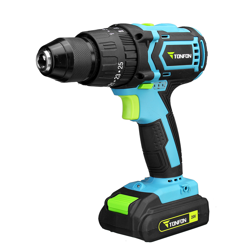 YOUPIN Tonfon 3 in 1 20V Rechargable Impact Drill Cordless Electric Screwdriver Drill with Bits