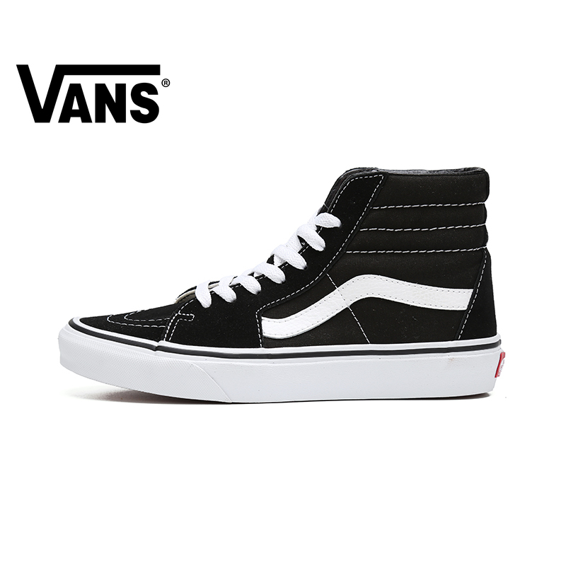 VANS SK8-HI Men And Women Shoes Classic Outdoor Street Style High To Help Comfortable Fashion Trend Black 2019 New VN000D5IB8C