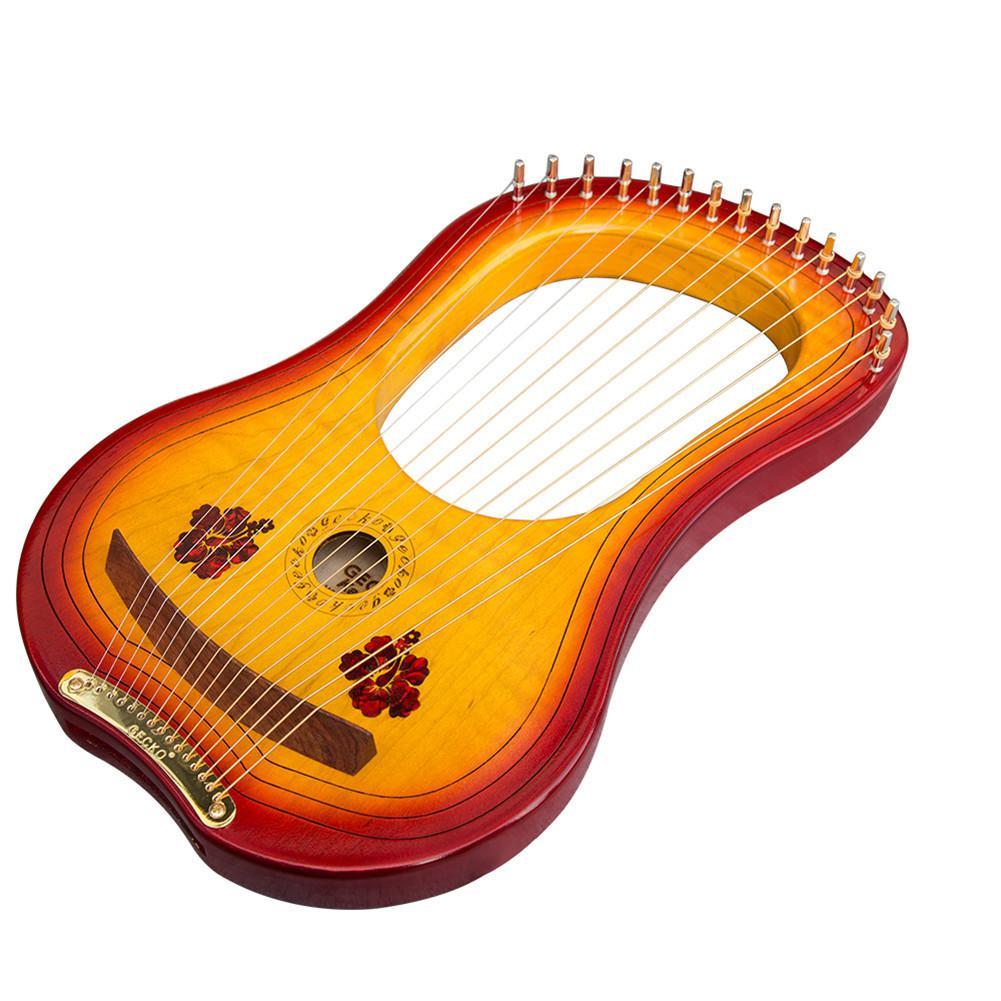 Hohe qualität GK 15MC 15 String Holz Leier mit Wasserdichte Tragen Tasche String Instrument Set - 2