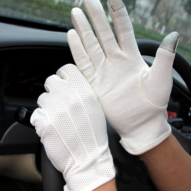 Coslony Men's Summer Outdoor Sports Fitness Cycling Sunscreen Short Sun Gloves Thin Cotton Fashion Touch Screen Driving Gloves