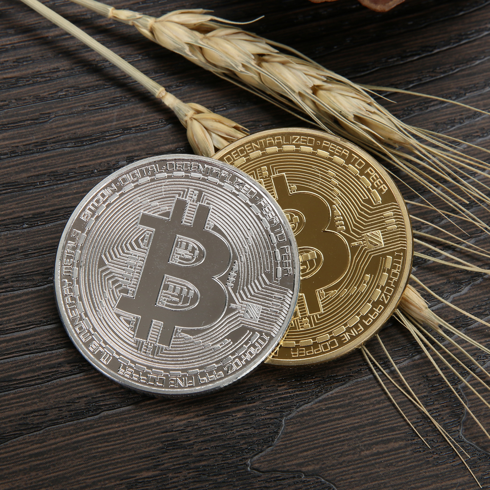1pc 38mm Collection Coin Bitcoin Gold Plated Bronze Physical Bitcoins Casascius Bit Coin BTC New Year Gift Non-currency Coins-4