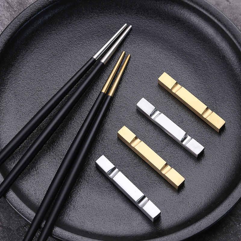 Baguettes rondes Sushi en acier inoxydable   5 paires de luxe 304 baguettes coréennes, titane or Rose Hashi baguettes japonaises chinoises colorées