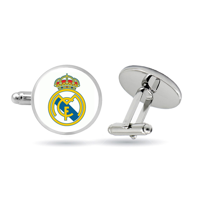 Football Club Glass Cabochon Cuff Links Football Logo Soccer Club Cuff Links For Men Gift Jewellery