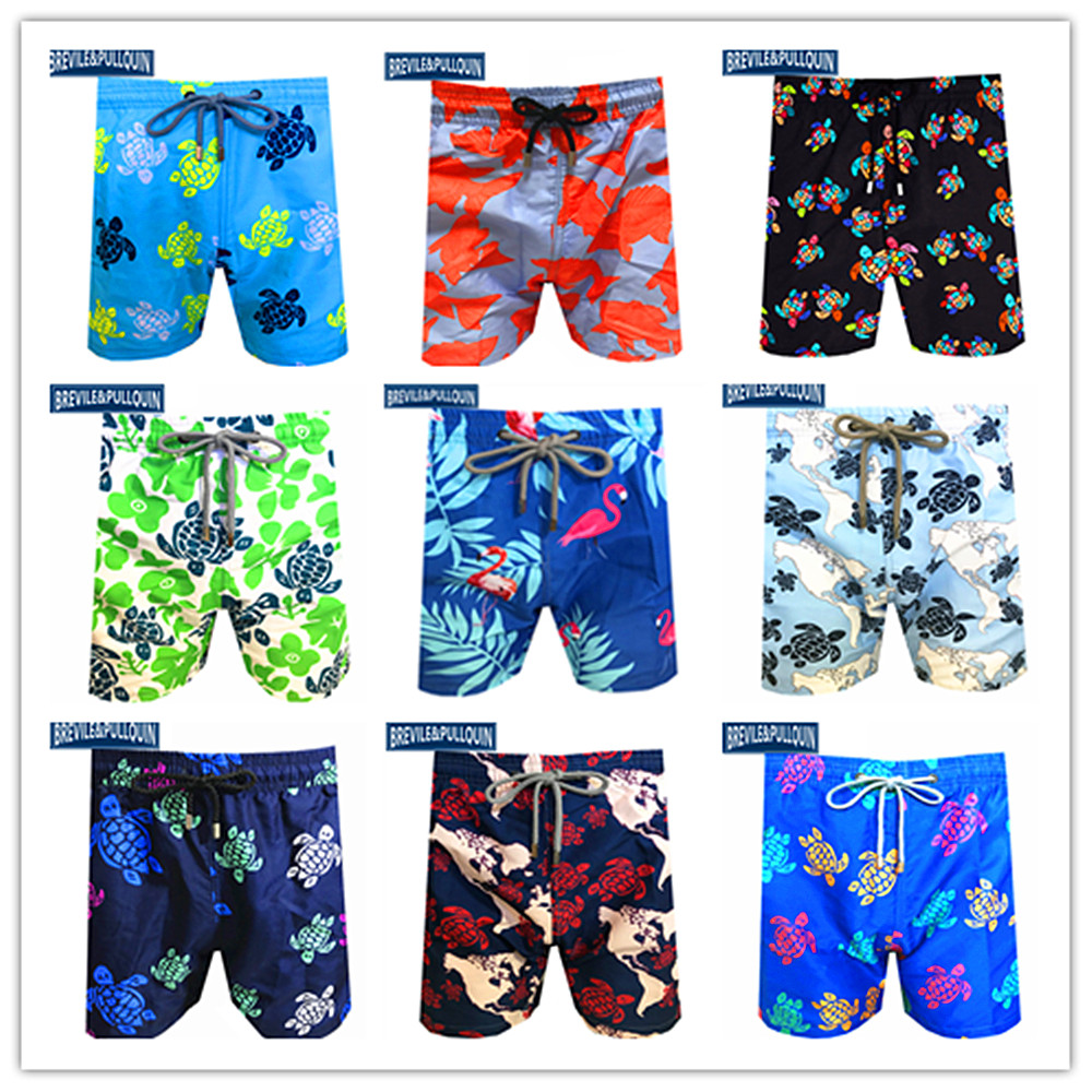 300 Colors Mens Hawaiian Shorts 2020 Bermuda Boardshorts Turtles Swimsuits Brevile Pullquin Beach Swimtrunks Swimwear Quick Dry