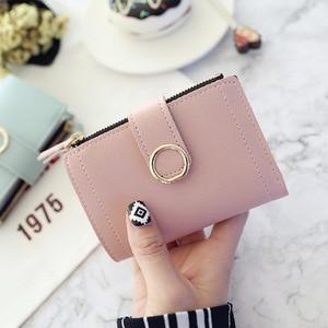 Women Wallets Small Fashion Brand Leather Purse Women Ladies Card Bag For Women 2020 Clutch Women Female Purse Money Clip Wallet(China)