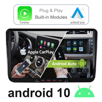 A-Sure 2 Din 9 Car Radio Android 10 Autoradio CarPlay GPS Navigation For VW Golf 5/6 Passat B6 Polo Touran Skoda Octavia Seat image