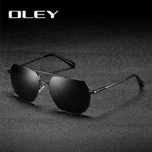OLEY Мужские Винтажные поляризационные солнцезащитные очки, классические брендовые солнцезащитные очки для вождения для мужчин/женщин и муж...