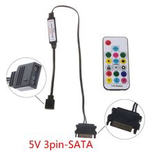 RGB Controller RF Wireless Remote Control for Case LED Light 3Pin 5V/4Pin 12V