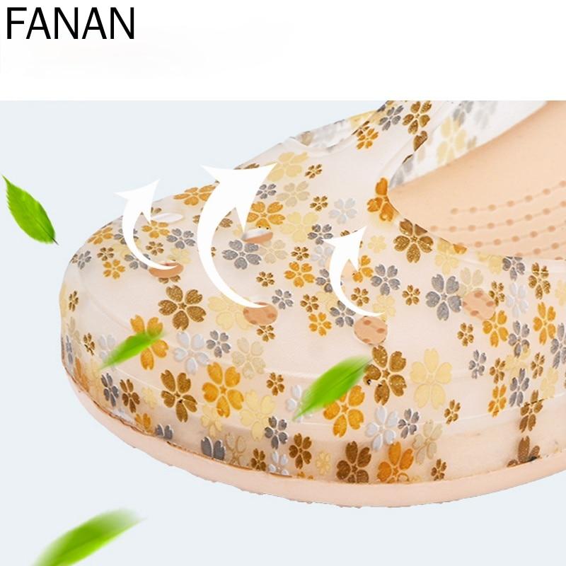 Сандалии женские пляжные на плоской подошве, босоножки-желе, обувь для сада и пляжа, лето