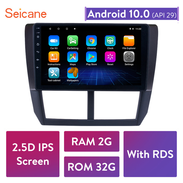 $ US $87.91 Seicane 2GB RAM 2 Din Android 10.0 Car GPS Navigation Radio Multimedia Player For 2008 2009 2010 2011 2012 Subaru Forester