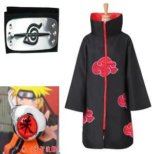 S-XXL костюм Наруто плащ Акацуки Косплей Саске Учиха накидка Косплей Итачи Одежда Косплей Костюм