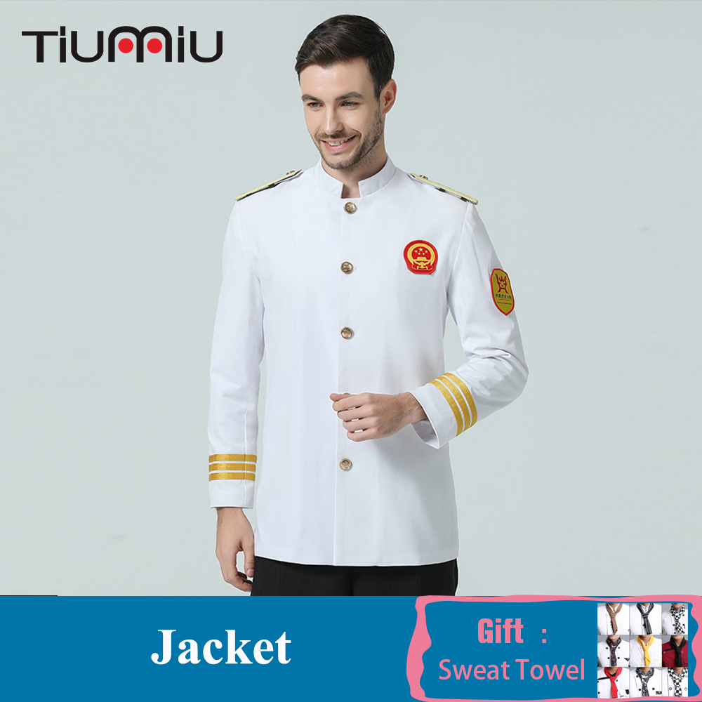 High Quality Chef Uniform Long Sleeve White Black Jacket Top Restaurant Kitchen Hotel Waiter Cafe Bakery Food Service Overalls