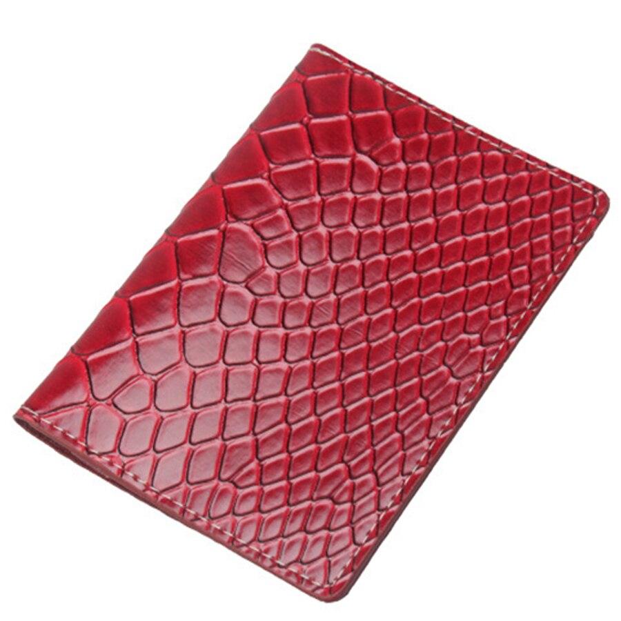 Zoukane Solid Python Snake Skin Passport Cover Case ID Holder Traverl Accessories Passport Card Wallet Clip ZSPC37