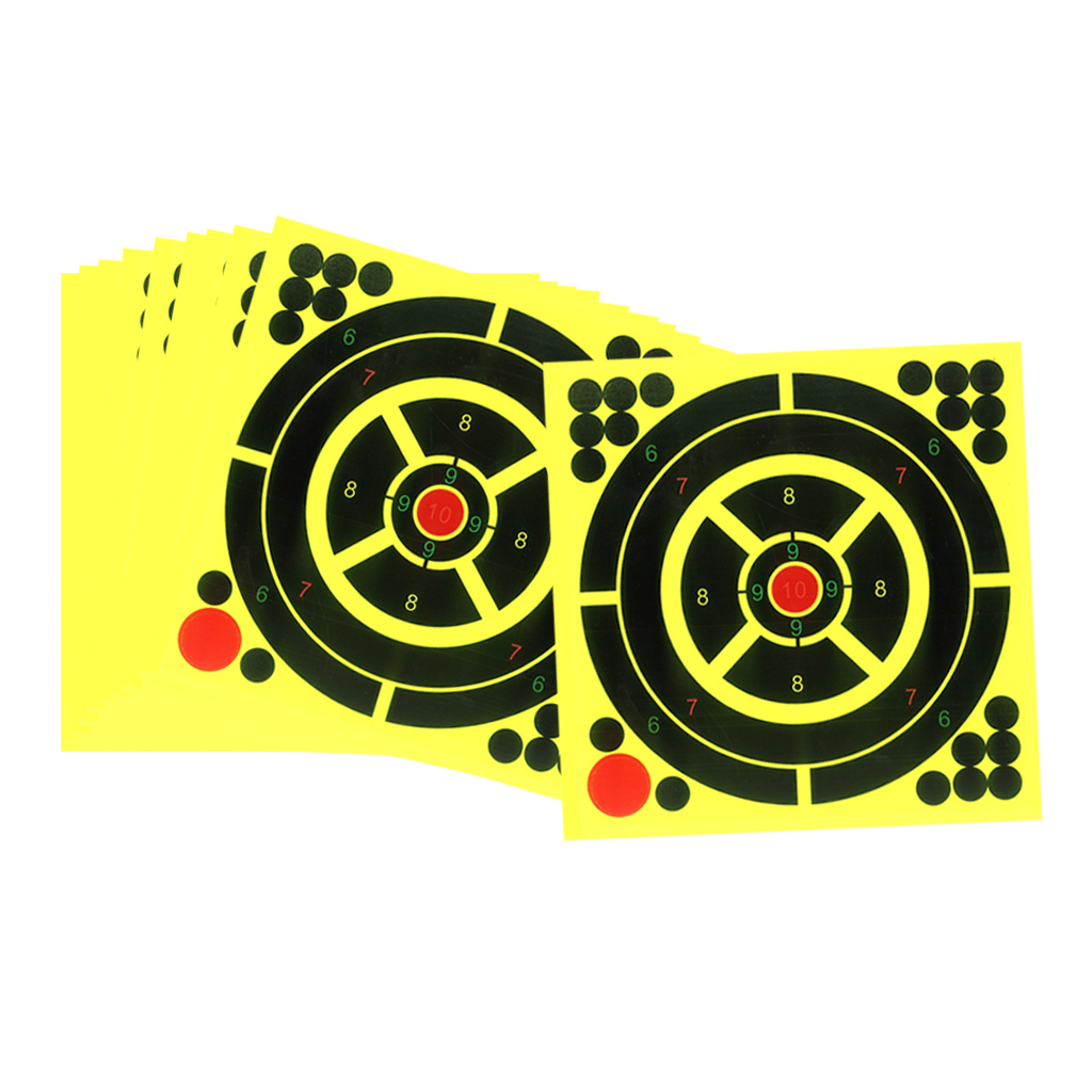 10 Lot Self-Adhesive  Targets 8x8inch For Shoot Training Accessories