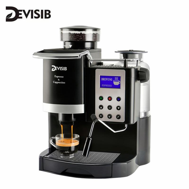 DEVISIB All-in-One Coffee Machine Coffee Maker Automatic Americano China Tea Capuchinator Cafetera Espresso Kitchen Appliances