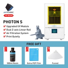 ANYCUBIC 3D Printer Photon S LCD Quick Slice 405nm UV Resin Matrix UV Light Dual Z axis SLA 3d Printer PhotonS impresora 3d