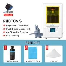 Anycubique 3D imprimante photon s LCD tranche rapide 405nm UV résine matrice UV lumière double Z axe SLA 3d imprimante PhotonS impresora 3d