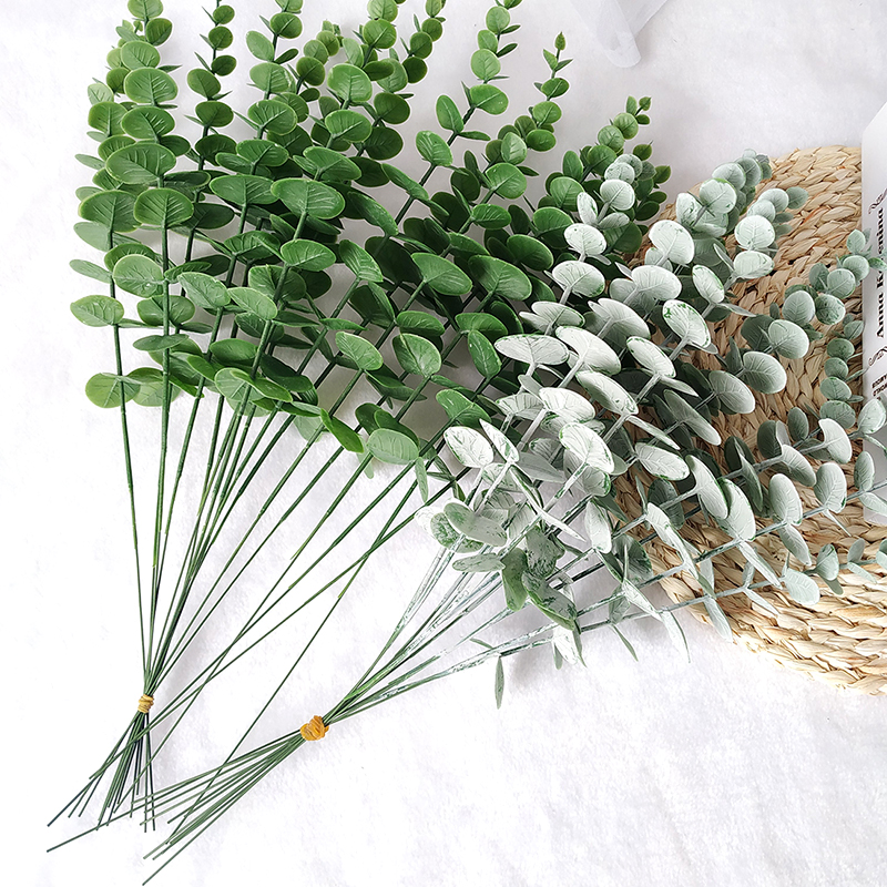 10 Piece Simulation Green Plants Eucalyptus Leaf Branch Artificial Fake Flower Wedding Shooting Prop Home Decoration Garland