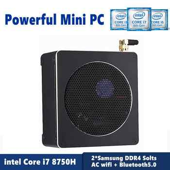 Topton USB Type-C Mini PC i7 8750H 6 Core 12 Threads DDR4 2666MHz Nuc Windows 10 Pro Linux Small Computer AC Wifi Mini DP HDMI - DISCOUNT ITEM  23 OFF Computer & Office